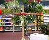 Ausstellungsturm für Blumenampeln