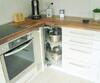 Küche, mit Eck-dreh-schrank, offen