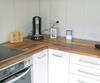 Küche, Dreheckschrank geschlossen