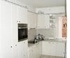 Küche, Front Hochglanz, Platte in einem Stück gearbeitet